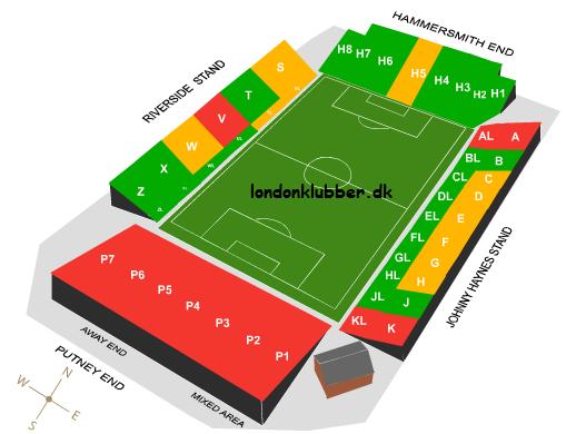 Fulham FC - Craven Cottage - Stadionplan
