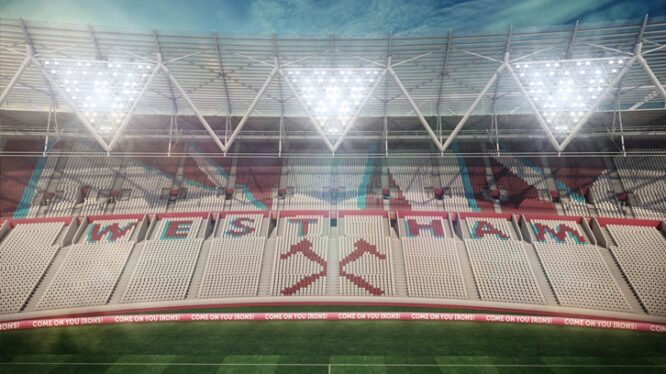 West Ham: Olympiskie Stadion - Eastside tribune