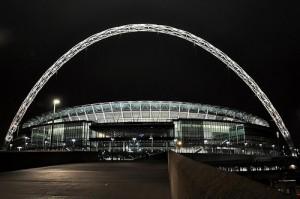 wembley stadium by night