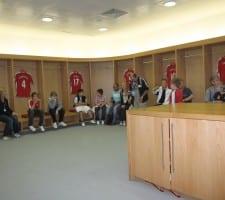 I Arsenals omklædningsrum