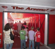 The Tunnel - Arsenal spillertunnellen