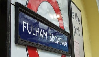 Fulham broadway station - chelsea