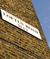 QPR Loftus Road gade skilt street