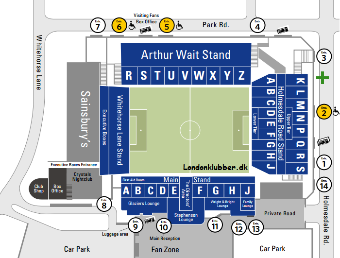 Selhurst Park stadionplan