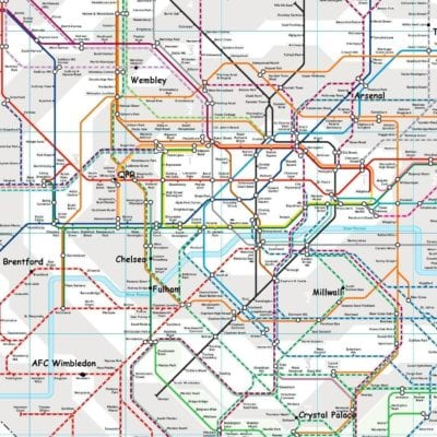 Kort over londonklubberne