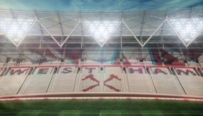 West Ham: Olympiskie Stadion - Eastside tribune Kilde: WHUFC.COM