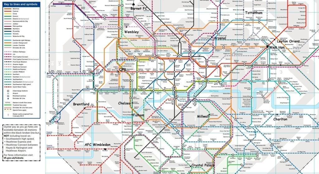 kort over london